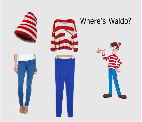 Last minute diy halloween costumes grand central magazine your wheres waldo find a pair of blue leggings 12 on chicnova or jeans 35 at kohls a red and white striped sweater 29 on sheinside solutioingenieria Choice Image