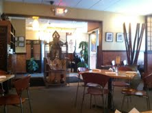 Sy Thai restaurant provides a warm, inviting atmosphere for customers.