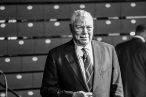 Former Secretary of State and General Colin Powell speaks in McGuirk Arena as part of Martin Luther King Jr. week.