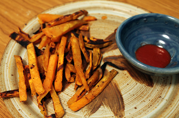Sweet potatoes and sriracha: a match made in vegan heaven. (Photo | Chelsea Hohn)