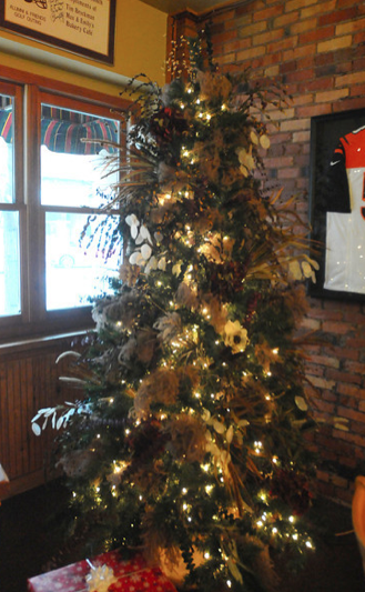 Max & Emily's Eatery has a tree on display for the festival.