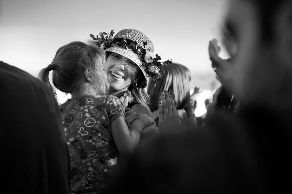 A mother and daughter dance along to the music of Billy Strings & Don Julin at the 40th Annual Wheatland Music Festival in Remus, Mich. October 8, 2013. (Photo | Shannon Millard)