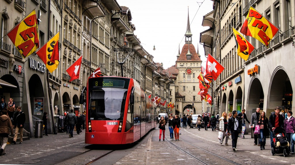 Marktgasse, Bern, Switzerland in April, 2012. (Photo   Nuno Esperanço)