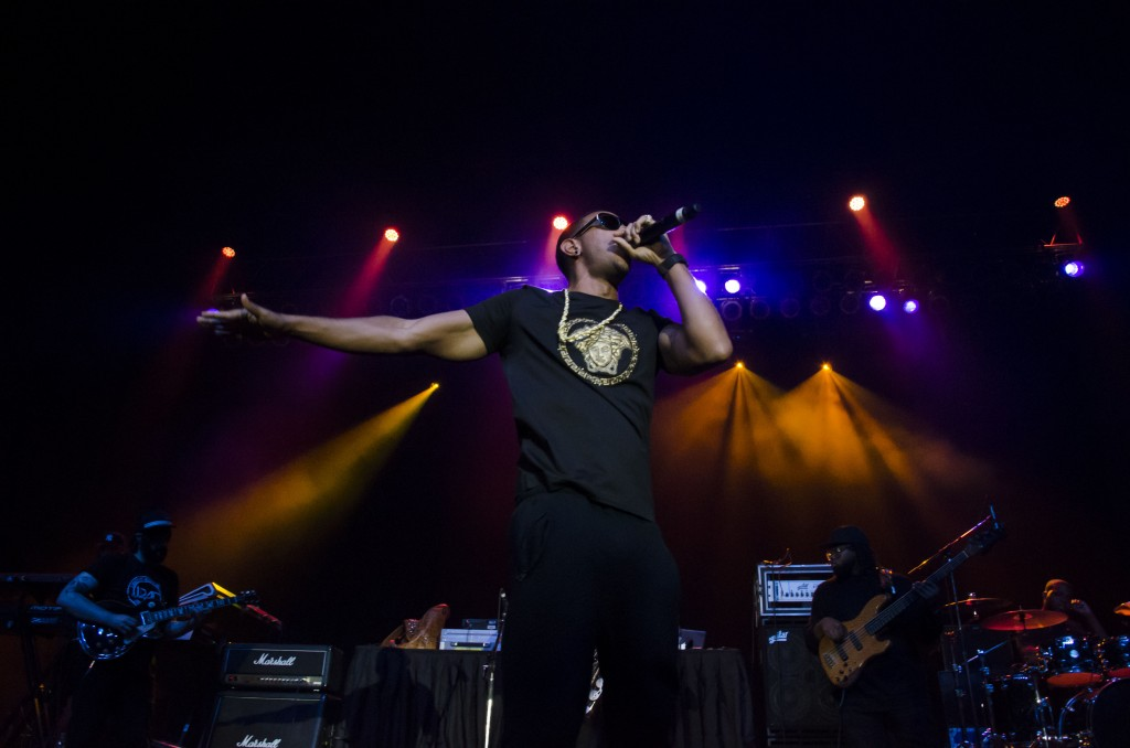 Ludacris excites the crowd at McGuirk Arena. (Photo | Claire Abendroth)