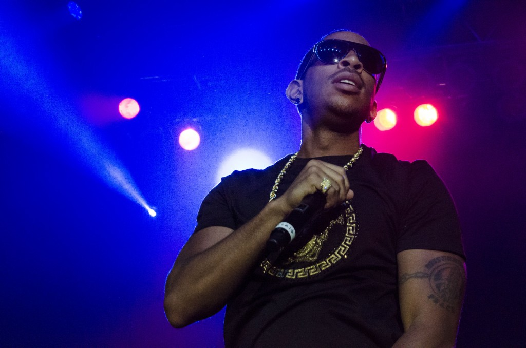 Ludacris takes a breather and looks out onto the crowd. (Photo | Claire Abendroth)