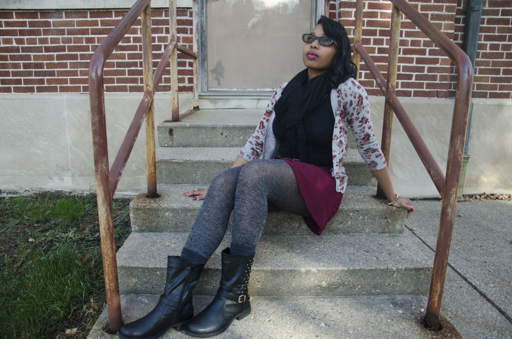 Janita Williams completes a fun fall ensemble with the perfect pair of boots. (Photo   Claire Abendroth)