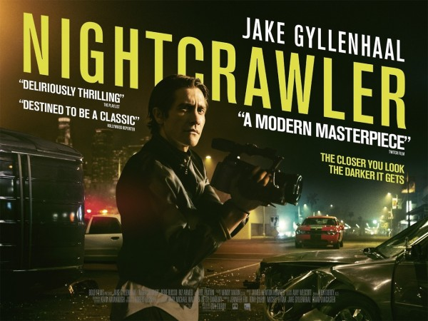 """Nightcrawler"" stars Jake Gyllenhaal as a former thief with a great eye for catching criminals on camera. (Movie Poster via IMP Awards)"