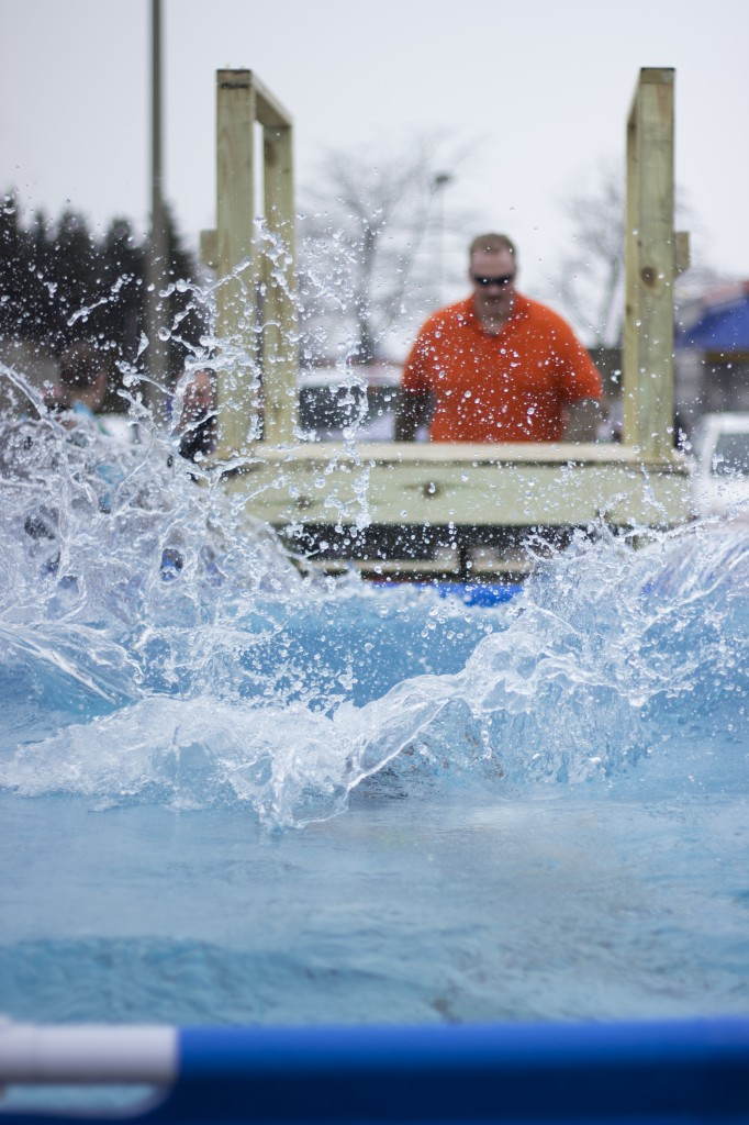 Participants made a splash at the Mount Pleasant Polar Plunge on Saturday, February 21, 2015. (Photo | Max Barth)