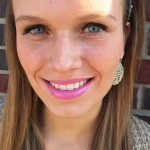 CMU sophomore Ashley Moyers wears a fuchsia lip color. (Photo I Colleen Dluzynski)