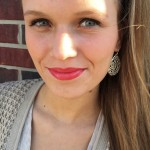 CMU sophomore Ashley Moyers wears a red lip color. (Photo I Colleen Dluzynski)