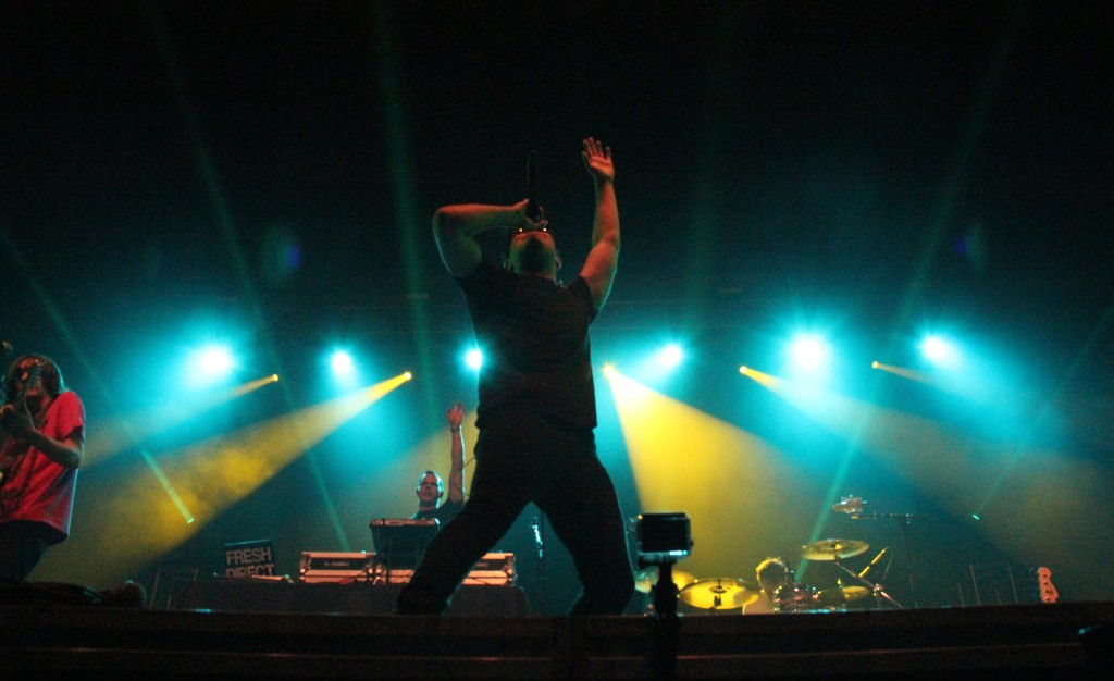 Steven AJ Markowitz, known as Hoodie Allen, opens up Central Michigan's first annual Homecoming concert in the McGuirk Arena on the campus on Central Michigan University, Friday, October 2, 2015.