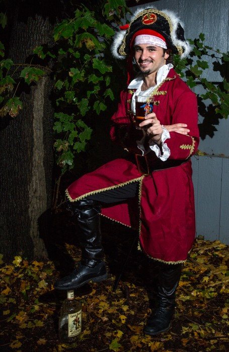 Junior Adam Shook as Captain Morgan. (Photo | Andraya Croft)