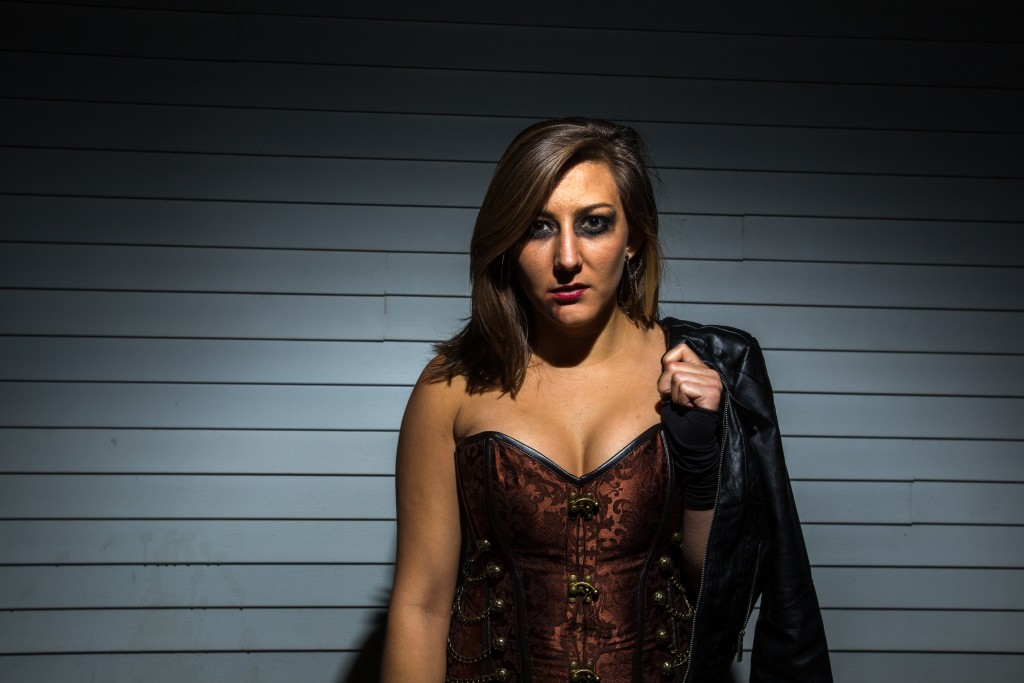 Senior Samantha Madar as a vampire. (Photo | Andraya Croft)