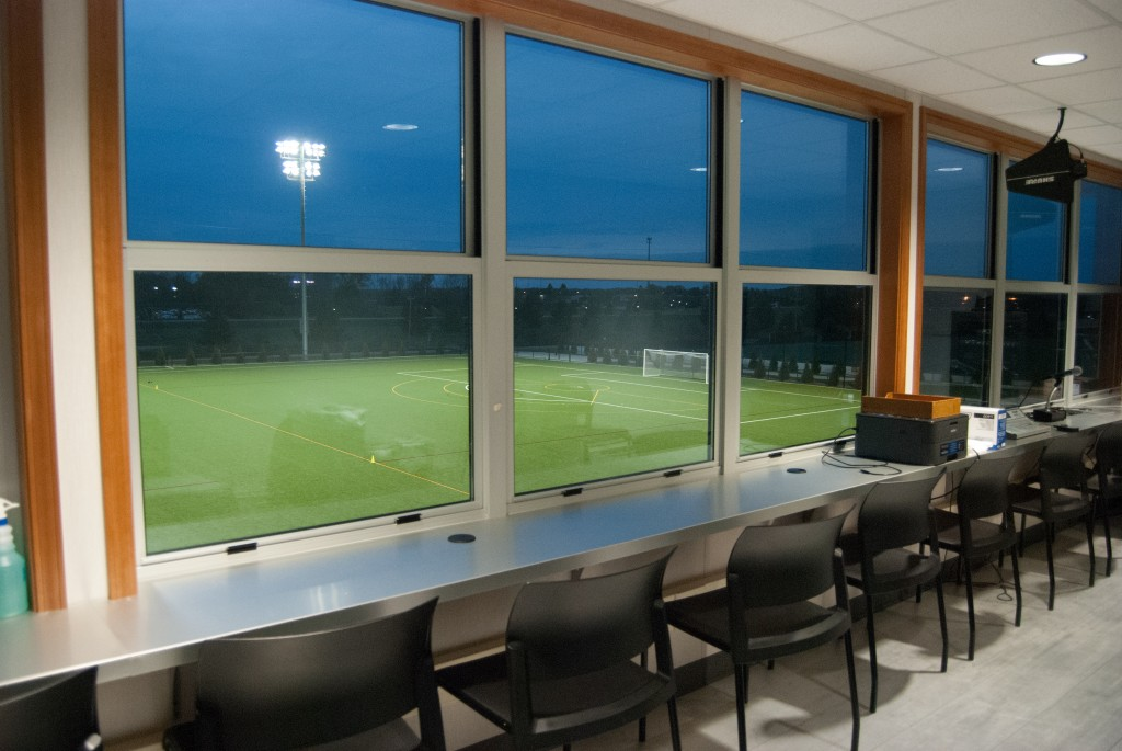 The new facility is complete with a state of the art press box. Oct. 27, 2015 | Mary LaVictor
