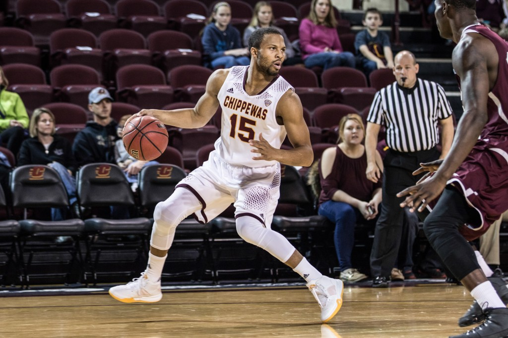 Chris Fowler, 15, surveys the offense during the game against Texas Southern University at McGuirk Arena on the campus of Central Michigan University, Mt. Pleasant, Michigan, Saturday, December 12, 2015. | Rich Drummond