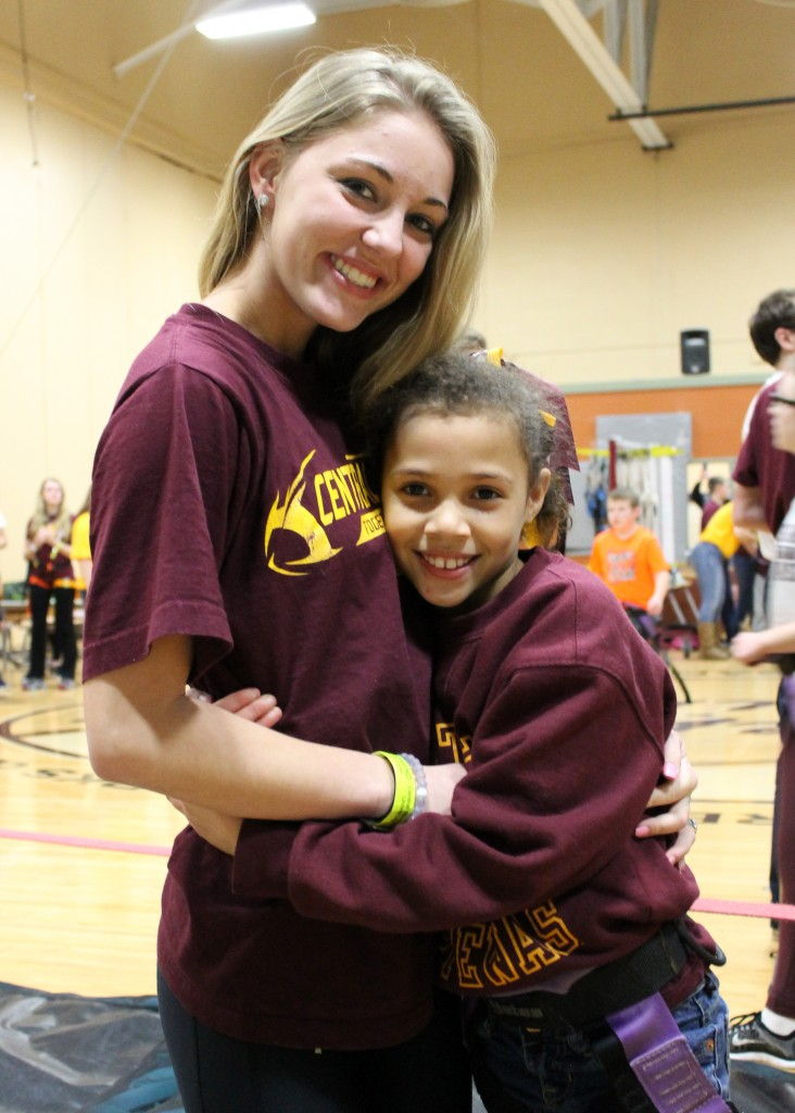 Chaicee (18) and Natayla (9) pose for a portrait at Sibling's Weekend activities on the Campus of Central Michigan University on Sunday January 31, 2016.